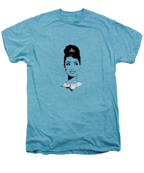Audrey In Tiffany Blue Men's Premium T-Shirt by Rene Flores