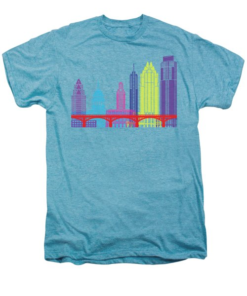 Austin Skyline Pop Men's Premium T-Shirt by Pablo Romero