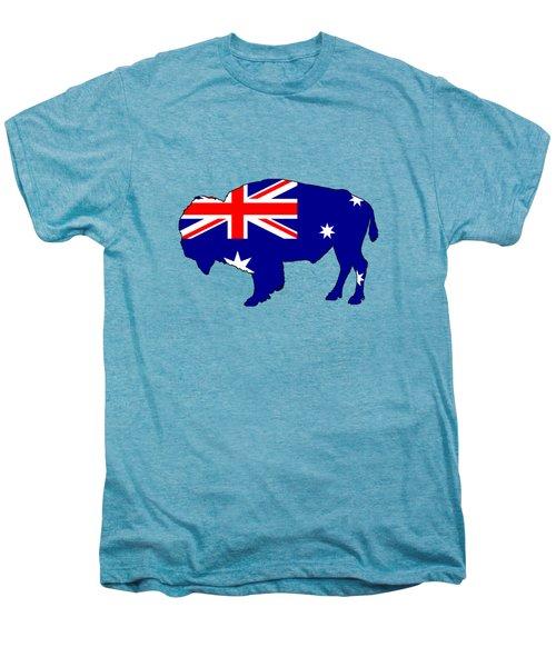 Australian Flag - Bison Men's Premium T-Shirt by Mordax Furittus