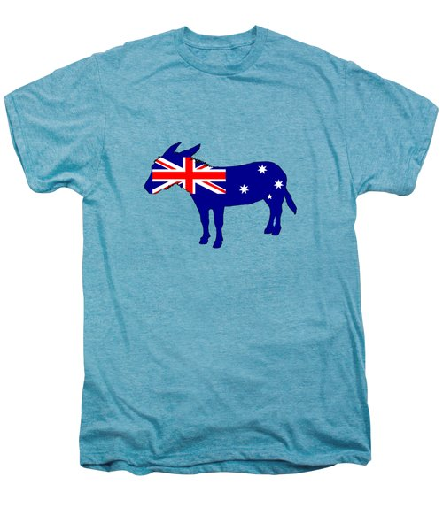 Australian Flag - Donkey Men's Premium T-Shirt by Mordax Furittus