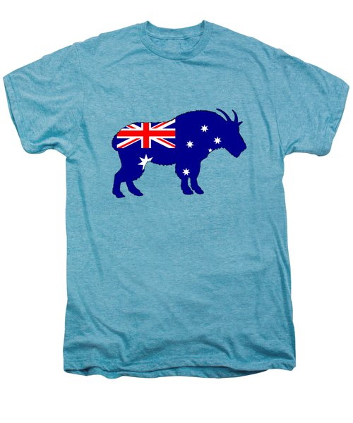 Australian Flag - Mountain Goat Men's Premium T-Shirt by Mordax Furittus