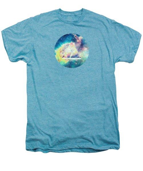 Awsome Collosal Deep Space Triangle Art Sign Men's Premium T-Shirt by Philipp Rietz