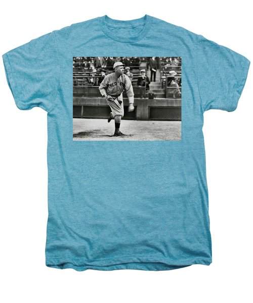 Babe Ruth - Pitcher Boston Red Sox  1915 Men's Premium T-Shirt by Daniel Hagerman