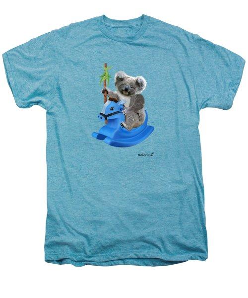 Baby Koala Buckaroo Men's Premium T-Shirt by Glenn Holbrook
