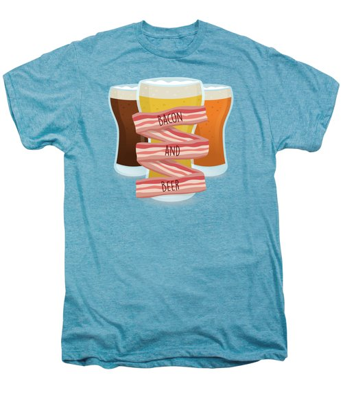 Bacon And Beer Men's Premium T-Shirt by Renato Kolberg