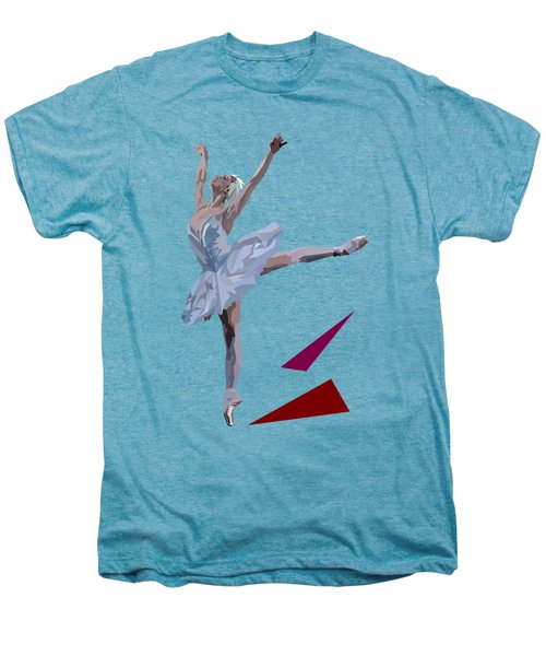 Ballerina Dancing Swan Lake Men's Premium T-Shirt by James Bryson