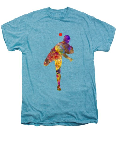 Baseball Player Throwing A Ball Men's Premium T-Shirt by Pablo Romero