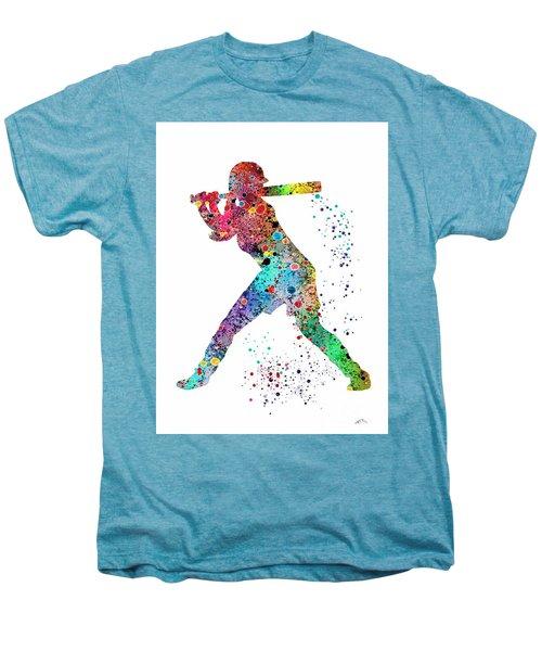 Baseball Softball Player Men's Premium T-Shirt by Svetla Tancheva