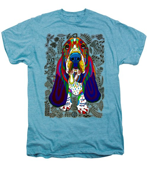 Basset Hound Men's Premium T-Shirt by Pet Coloring Pages