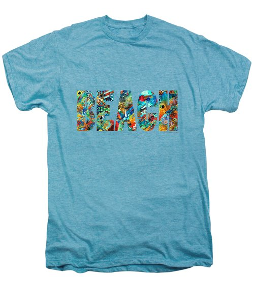 Beach Art - Beachy Keen - By Sharon Cummings Men's Premium T-Shirt by Sharon Cummings