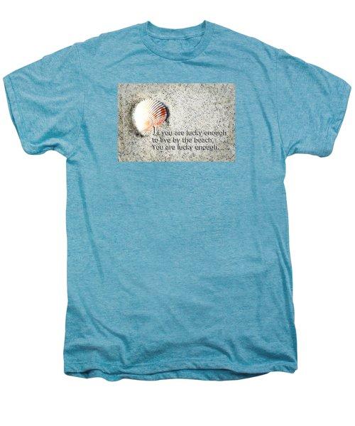 Beach Art - Lucky Enough - Sharon Cummings Men's Premium T-Shirt by Sharon Cummings