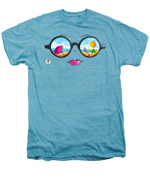 Beach Day Sunglass Design From The Sunnie Tees 2016 Collection Men's Premium T-Shirt by Megan Duncanson