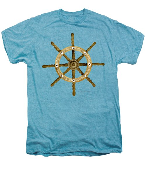 Beach House Nautical Boat Ship Anchor Vintage Men's Premium T-Shirt by Audrey Jeanne Roberts