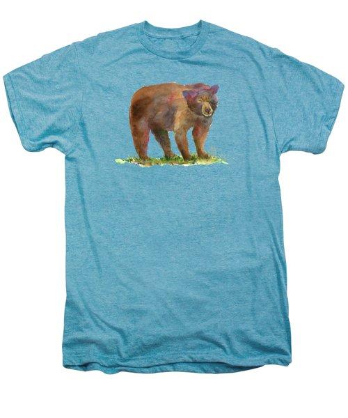 Bear Men's Premium T-Shirt by Amy Kirkpatrick