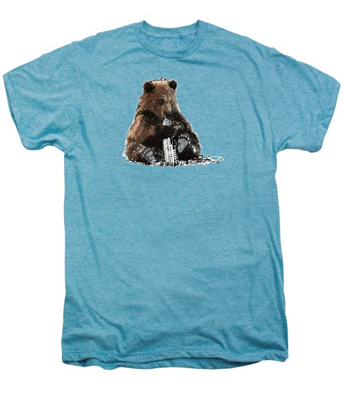 Bear Loves Ny Men's Premium T-Shirt by Devlin