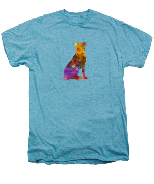 Beauceron In Watercolor Men's Premium T-Shirt by Pablo Romero