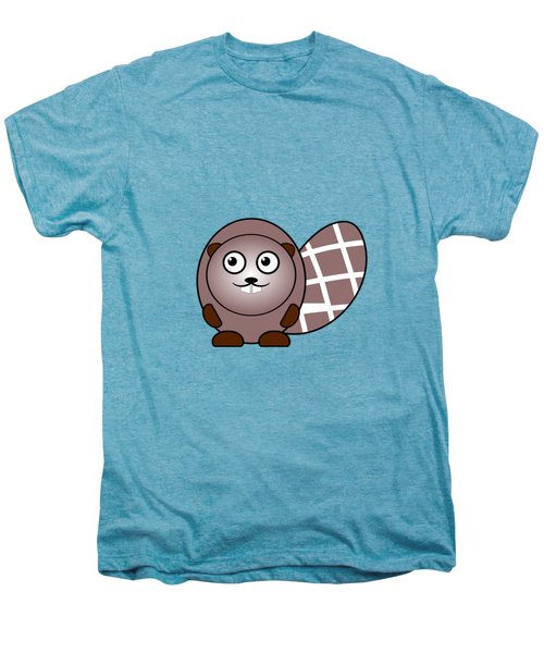 Beaver - Animals - Art For Kids Men's Premium T-Shirt by Anastasiya Malakhova