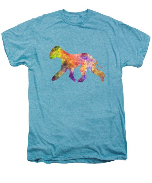 Bedlington Terrier 01 In Watercolor Men's Premium T-Shirt by Pablo Romero