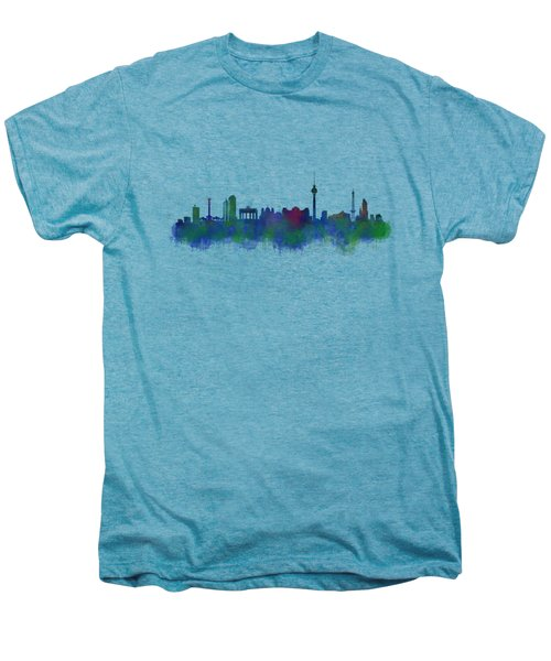 Berlin City Skyline Hq 2 Men's Premium T-Shirt by HQ Photo