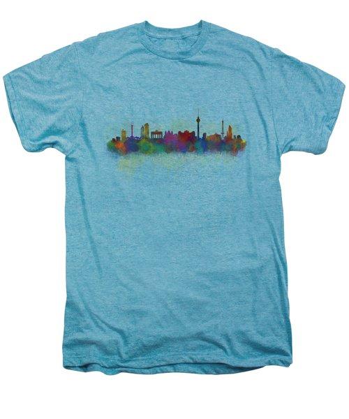 Berlin City Skyline Hq 5 Men's Premium T-Shirt by HQ Photo
