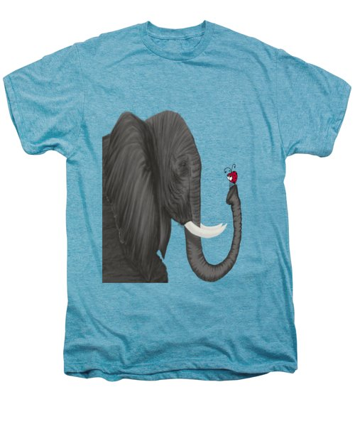 Bertha The Elephant And Her Visitor Men's Premium T-Shirt by Michelle Brenmark