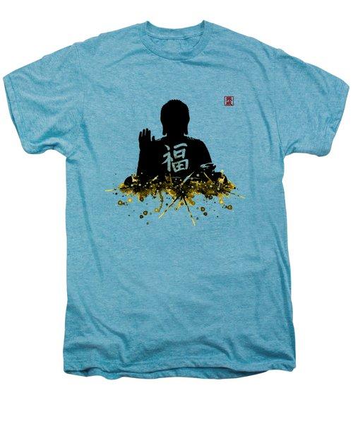 Big Buddha Blessing Men's Premium T-Shirt by JW Digital Art