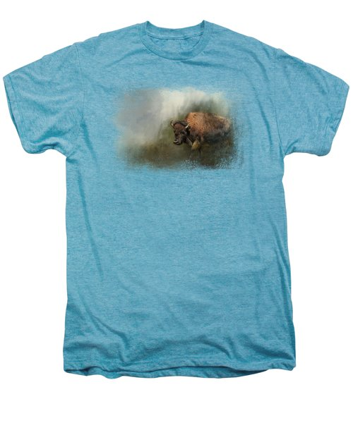 Bison After The Mud Bath Men's Premium T-Shirt by Jai Johnson