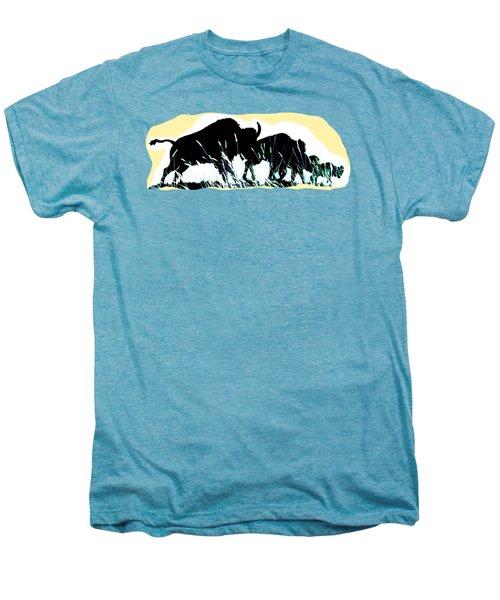 Bison Prairie Run Men's Premium T-Shirt by Aliceann Carlton