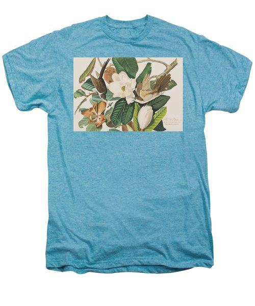 Black Billed Cuckoo Men's Premium T-Shirt by John James Audubon