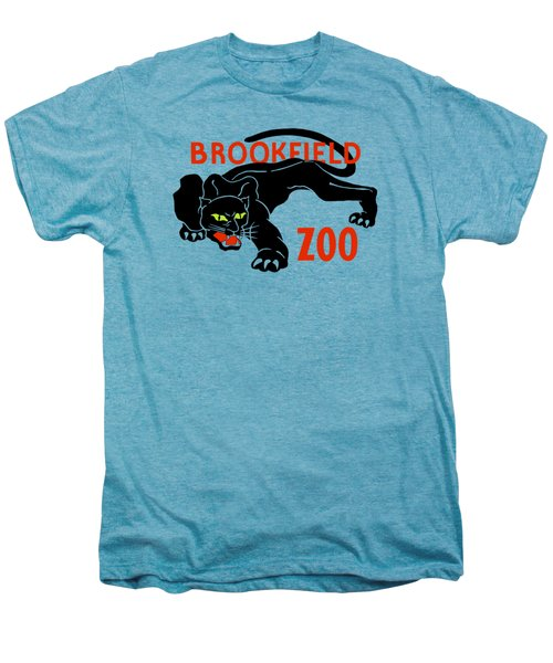 Black Panther Brookfield Zoo Ad Men's Premium T-Shirt by Heidi De Leeuw