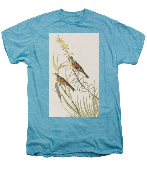 Black-throated Bunting Men's Premium T-Shirt by John James Audubon
