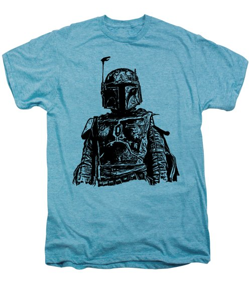 Boba Fett From The Star Wars Universe Men's Premium T-Shirt by Edward Fielding