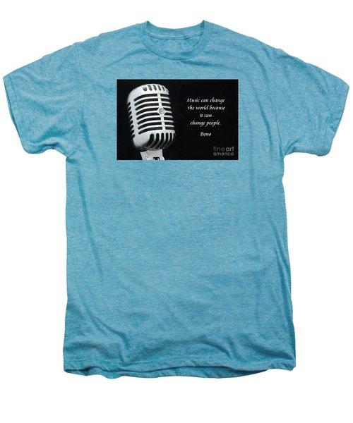 Bono On Music Men's Premium T-Shirt by Paul Ward