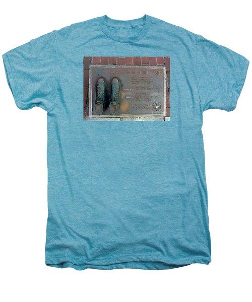 Boston Celtics Larry Bird Men's Premium T-Shirt by Gina Sullivan