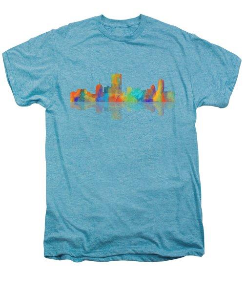 Boston Ma. Skyline Men's Premium T-Shirt by Marlene Watson