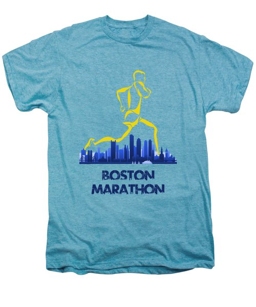 Boston Marathon5 Men's Premium T-Shirt by Joe Hamilton