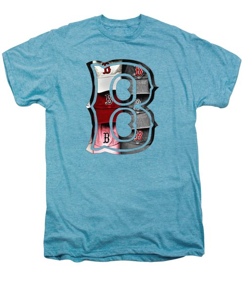 Boston Red Sox B Logo Men's Premium T-Shirt by Joann Vitali