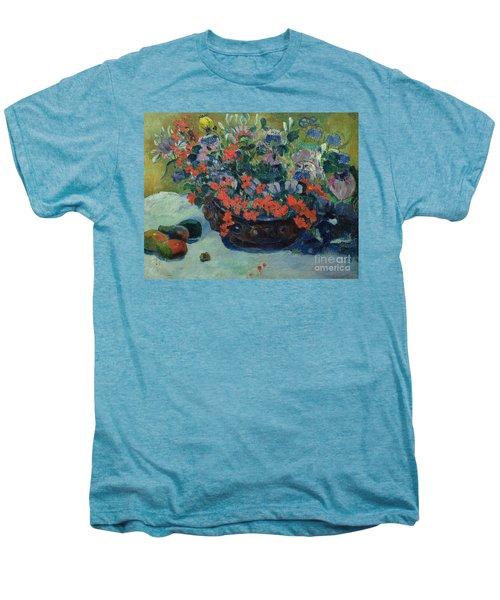 Bouquet Of Flowers Men's Premium T-Shirt by Paul Gauguin
