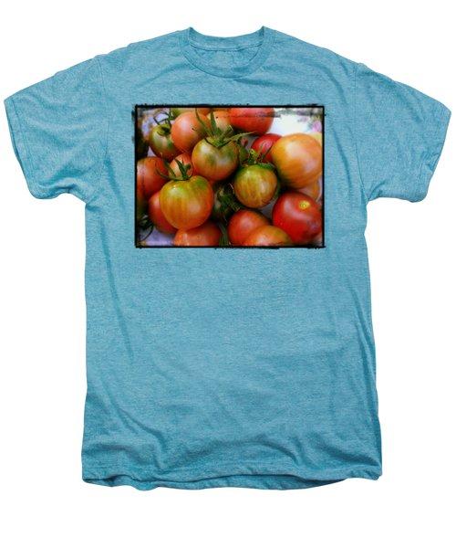 Bowl Of Heirloom Tomatoes Men's Premium T-Shirt by Kathy Barney