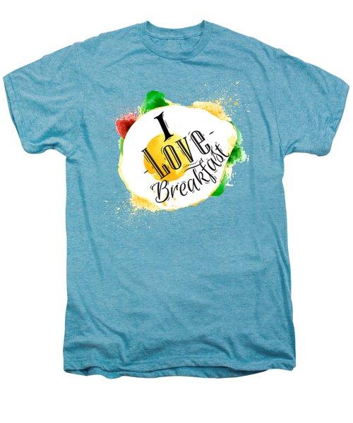 I Love Breakfast Men's Premium T-Shirt by Aloke Design