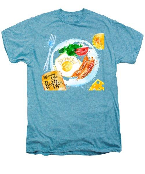 Breakfast 04 Men's Premium T-Shirt by Aloke Design