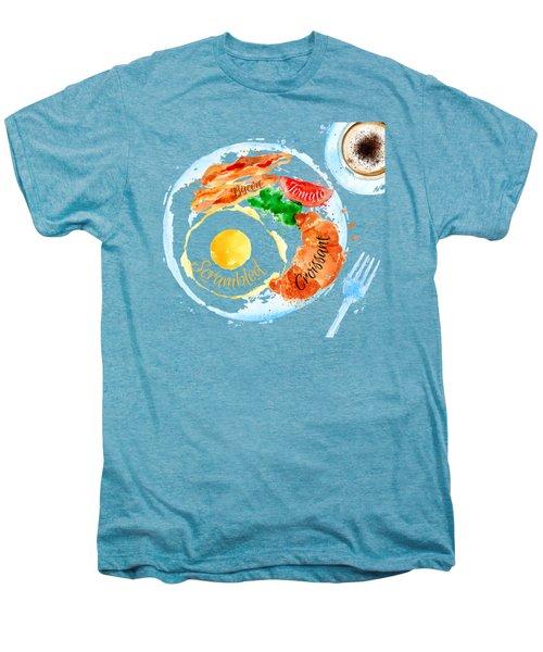 Breakfast 03 Men's Premium T-Shirt by Aloke Design