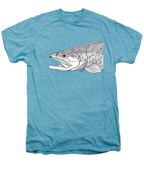 Brown Trout Men's Premium T-Shirt by Jay Talbot