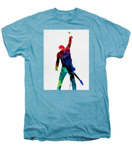 Bruce Watercolor Men's Premium T-Shirt by Naxart Studio
