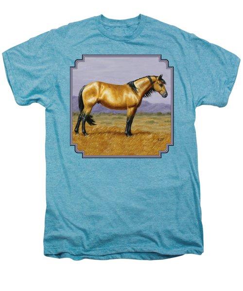 Buckskin Mustang Stallion Men's Premium T-Shirt by Crista Forest