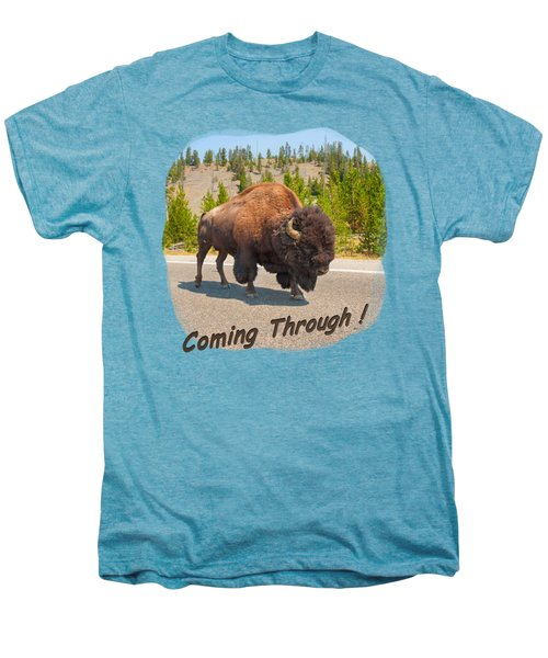 Buffalo Men's Premium T-Shirt by John M Bailey