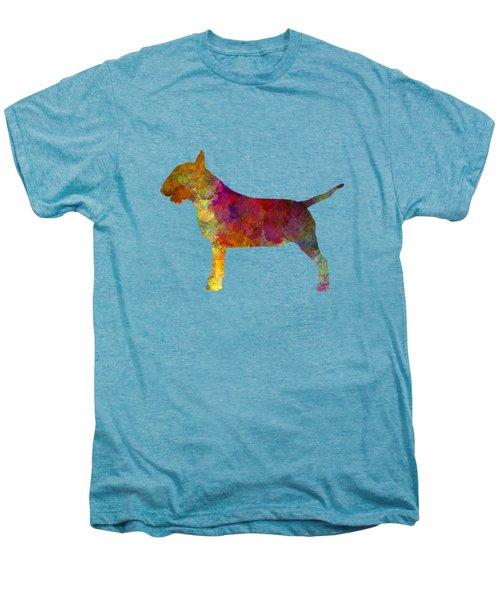 Bull Terrier In Watercolor Men's Premium T-Shirt by Pablo Romero