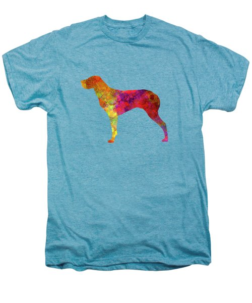 Burgos Pointer In Watercolor Men's Premium T-Shirt by Pablo Romero