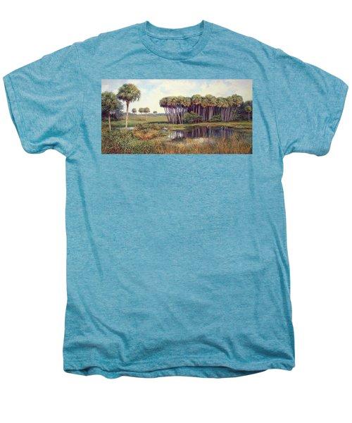 Cabbage Palm Hammock Men's Premium T-Shirt by Laurie Hein