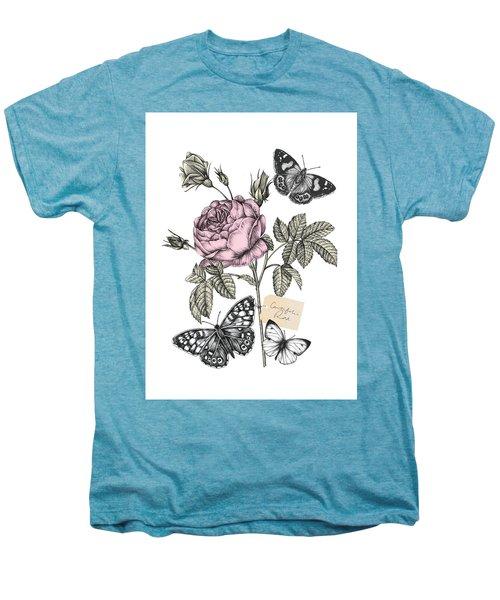 Cabbage Rose Men's Premium T-Shirt by Stephanie Davies